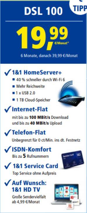 1und1 DSL 100 1999