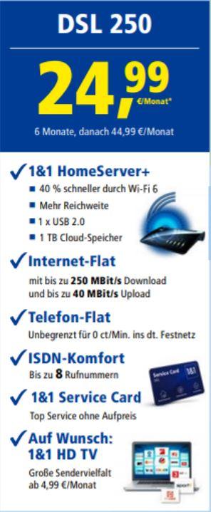 1und1 DSL 250 2499