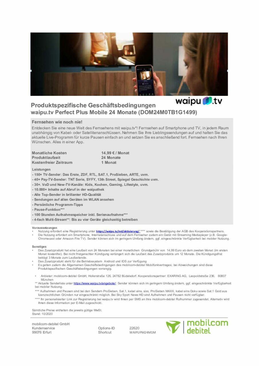 Waipu Datenblatt Perfect Mobile 1 pdf